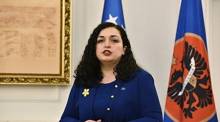 Kosovo prezidento postą antrąkart užėmė moteris