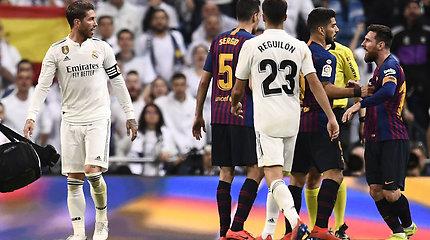 "S.Ramoso ir L.Messi konfliktas ""El Clasico"" rungtynėse"
