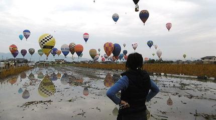 Giedrius Leškevičius oro balionų varžybose Japonijoje