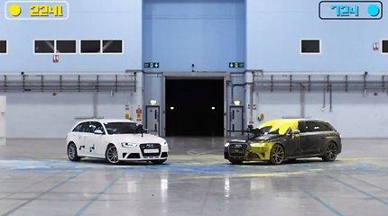 """Kaip du 450 AG """"Audi RS4"""" dažasvydį žaidė"""