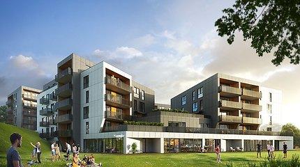 Tarp Užupio ir Belmonto – naujas gyvenamųjų namų kvartalas