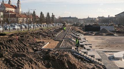 Prie Baltojo tilto vyksta riedlenčių parko įrengimo darbai