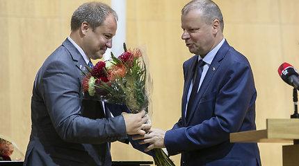 Saulius Skvernelis pristatė žemės ūkio ministrą Andrių Palionį