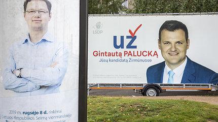 Politinė reklama Vilniaus Žirmūnų mikrorajone