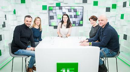 15min studijoje – aktoriai L.Kalpokaitė, G.Jaraminaitė, J.Gaižauskas ir E.Kvoščiauskas