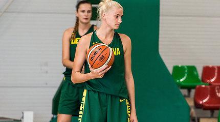 Lietuvos moterų krepšinio rinktinės treniruotė