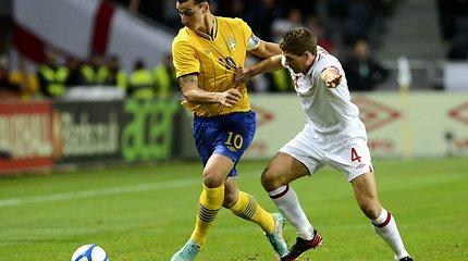 Stebukladarys Zlatanas Ibrahimovičius įveikė Angliją 4:2, prancūzai palaužė italus, portugalai neįveikė Gabono