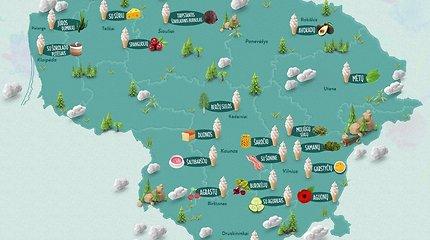 20 keisčiausių ledų Lietuvoje žemėlapis: kur rasti šaltibarščių ar beržų sulos skonio