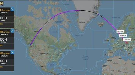 """Qatar Airways"" lėktuvų skrydžiai"