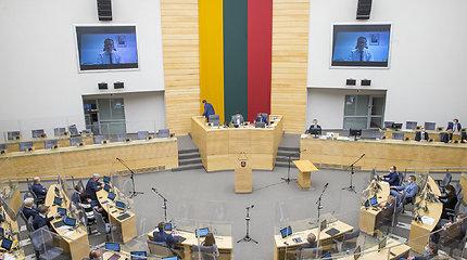 Opozicijos atstovai prašo rengtis gyvus Seimo posėdžius