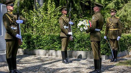 Antrojo Pasaulinio karo pabaigos minėjimas Antakalnio kapinėse