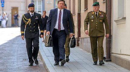 Raimundas Karoblis ir Vytautas Žukas atvyko į Prezidentūrą