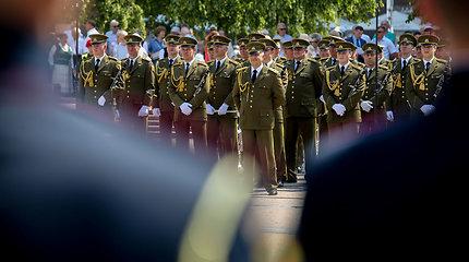 Vėliavų pakėlimo ceremonija Nepriklausomybės aikštėje