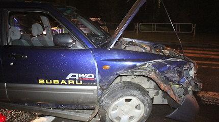 """""""Subaru"""" avarija Panevėžyje"""