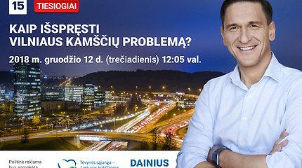 D. Kreivys pristatė sprendimus, kaip ruošiasi išspręsti Vilniaus kamščių problemą