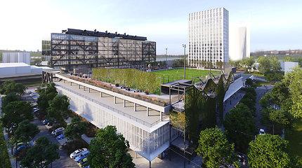 Vietoje buvusių Spaudos rūmų Rygoje planuoja verslo kvartalą: ant stogo įrengs futbolo aikštę