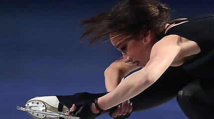Alina Zagitova suklupo per parodomąją programą Tokijuje