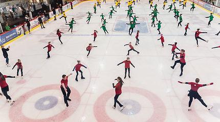 73 čiuožėjai ant ledo siekė Lietuvos rekordo