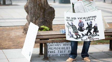 Piketas dėl laisvės kovų monumento statybos Lukiškių aikštėje