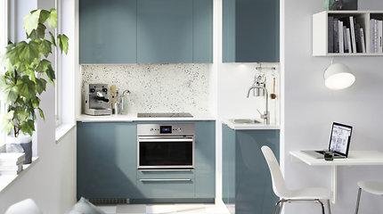 Mažos virtuvės gudrybės: kaip sutalpinti visus reikiamus daiktus?