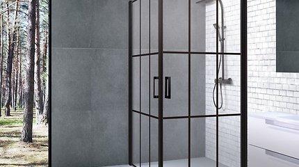 Industrinis stilius braunasi į vonią