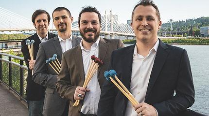 """Lietuvoje pirmą kartą koncertuos viena ryškiausių JAV mušamųjų grupių """"Portland Percussion Group"""""""