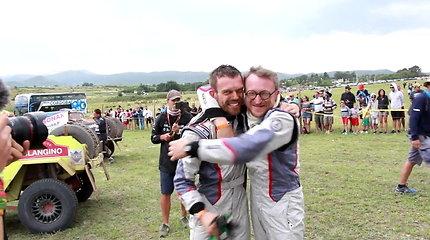 """Vaidotas Žala ir Saulius Jurgelėnas po finišo Dakare: """"Pagaliau!"""""""