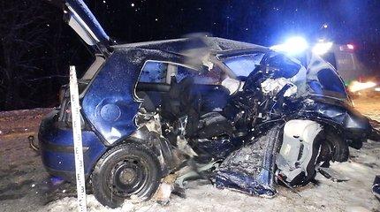 Aiškėja tragiškos avarijos Šakių rajone detalės: žuvo sutuoktiniai, dar 5 žmonės sužeisti