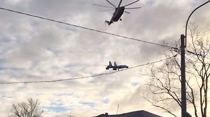 Sankt Peterburgo gyventojai skubėjo filmuoti dangumi skrendančio neeilinio objekto