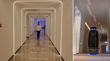 """Pasižvalgykite po """"ateities"""" viešbutį: jame svečių aptarnavimui įprastas personalas nereikalingas"""