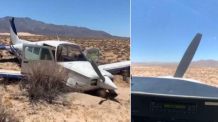 Keleivė nufilmavo gąsdinantį priverstinį lėktuvo nusileidimą – liko vieni viduryje dykumos