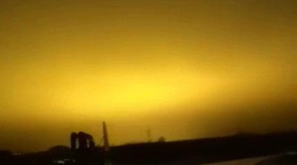 Nustebino neaiškus reiškinys: Elektrėnų dangus švietė ryškia šviesa