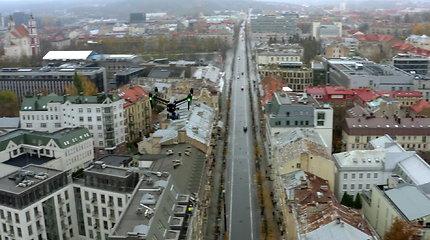 """5G jau Lietuvoje: """"Telia"""" skrydis virš Gedimino prospekto"""