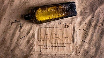 Per bortą išmesta seniausia žinutė butelyje buvo užfiksuota ir kapitono žurnale