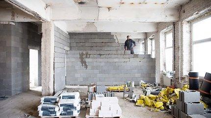 Statybos Lietuvoje per metus pabrango 3,4 proc.