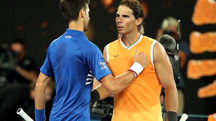 """2019 metų """"Australian Open"""" vyrų vienetų finalo akimirkos"""