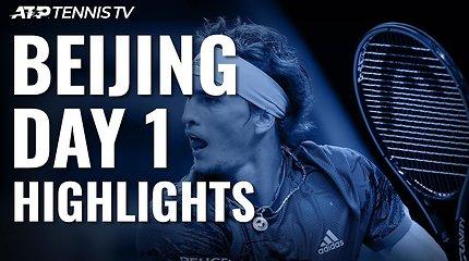 Pirmoji ATP turnyro Pekine diena: A.Zverevo ir K.Hačanovo pergalės
