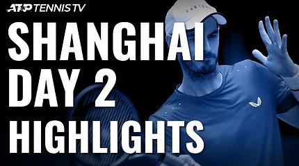 Antroji ATP turnyro Šanchajuje diena: sunkios A.Murray bei G.Monfilso pergalės ir nepriekaištingas D.Šapovalovas