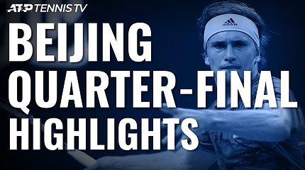 Penktoji ATP turnyro Pekine diena: solidus D.Thiemas ir A.Zverevo bei S.Tsitsipo pergalės