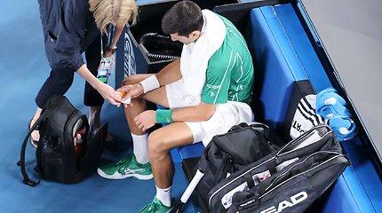 """""""Australian Open"""" vyrų finalas: Dominicas Thiemas – Novakas Džokovičius"""