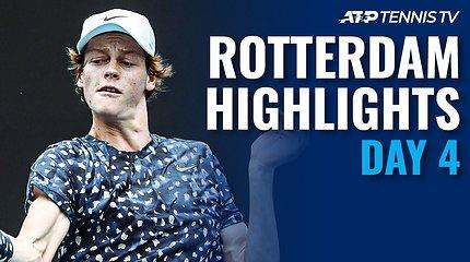 """Ketvirtosios """"ABN AMRO World Tennis Tournament"""" dienos apžvalga"""