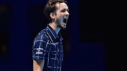 """Nitto ATP Finals"" finalas: Daniilas Medvedevas – Dominicas Thiemas"