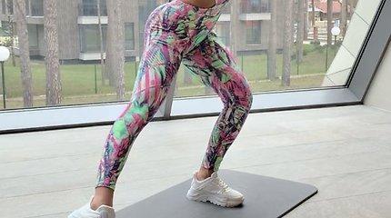 Indrės Burlinskaitės sporto treniruotės akimirkos