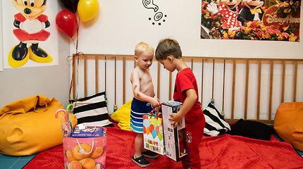Nerijaus Juškos ir jo vaikų gimtadienio šventė