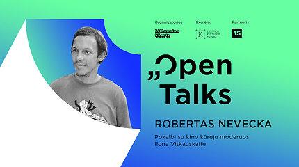"""""""Open Talks"""" pokalbis su kino kūrėju Robertu Nevecka – 15min tiesioginėje transliacijoje"""