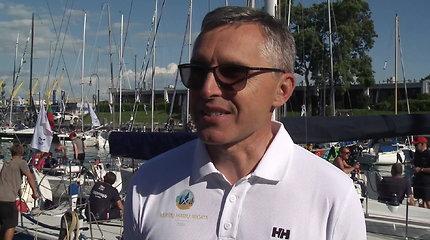 Kuršių marių regata: vyriausias teisėjas R.Žentelis