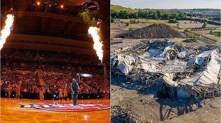 Pamatykite: iš varžovų pragaru buvusios Detroito arenos liko tik nuolaužos ir dulkės
