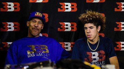 LaVaras Ballas išsirinko, kur norėtų matyti žaidžiantį savo jaunėlį sūnų