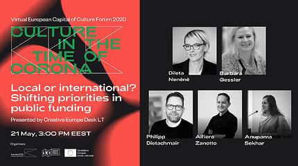 Europos kultūros sostinės forumas: KULTŪROS TARPTAUTIŠKUMO RĖMĖJŲ FORUMAS (en)