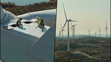 Norvegijoje pastatytos vėjo turbinos, kurios sumažins šiltnamio efektą